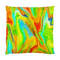 Happy Multicolor Painting Standard Cushion Case (two Sides) by designworld65