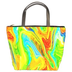 Happy Multicolor Painting Bucket Bags by designworld65