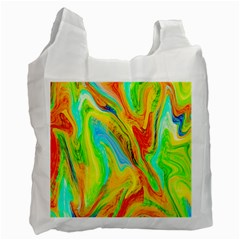 Happy Multicolor Painting Recycle Bag (one Side) by designworld65