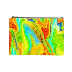 Happy Multicolor Painting Cosmetic Bag (large)  by designworld65