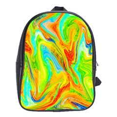Happy Multicolor Painting School Bags(large)  by designworld65
