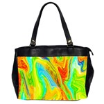 Happy Multicolor Painting Office Handbags (2 Sides)  Front