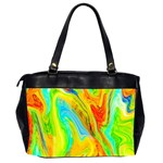 Happy Multicolor Painting Office Handbags (2 Sides)  Back