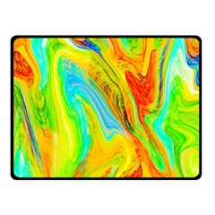 Happy Multicolor Painting Fleece Blanket (small) by designworld65
