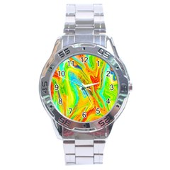 Happy Multicolor Painting Stainless Steel Analogue Watch by designworld65