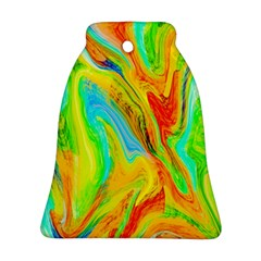 Happy Multicolor Painting Bell Ornament (2 Sides) by designworld65