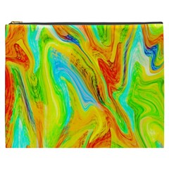 Happy Multicolor Painting Cosmetic Bag (xxxl)  by designworld65