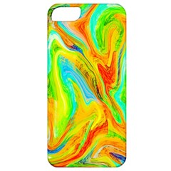 Happy Multicolor Painting Apple Iphone 5 Classic Hardshell Case by designworld65