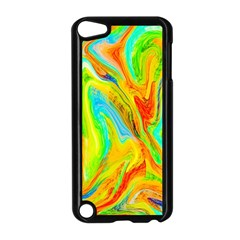 Happy Multicolor Painting Apple Ipod Touch 5 Case (black) by designworld65