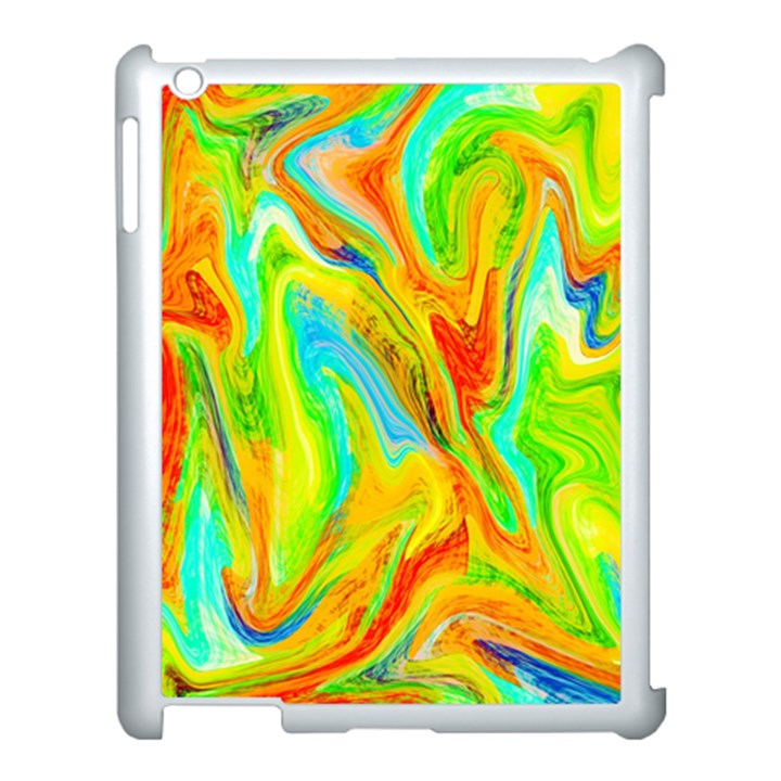 Happy Multicolor Painting Apple iPad 3/4 Case (White)