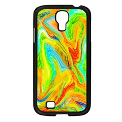 Happy Multicolor Painting Samsung Galaxy S4 I9500/ I9505 Case (black) by designworld65