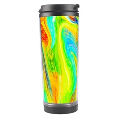 Happy Multicolor Painting Travel Tumbler by designworld65