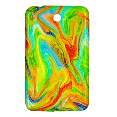 Happy Multicolor Painting Samsung Galaxy Tab 3 (7 ) P3200 Hardshell Case  by designworld65