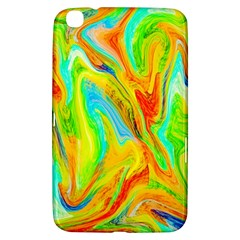 Happy Multicolor Painting Samsung Galaxy Tab 3 (8 ) T3100 Hardshell Case  by designworld65