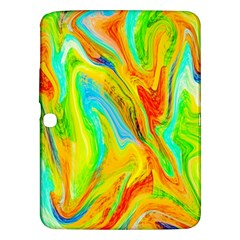Happy Multicolor Painting Samsung Galaxy Tab 3 (10 1 ) P5200 Hardshell Case  by designworld65