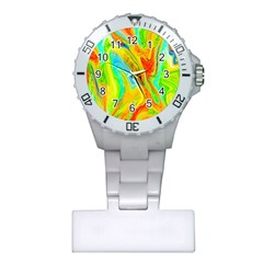 Happy Multicolor Painting Plastic Nurses Watch by designworld65