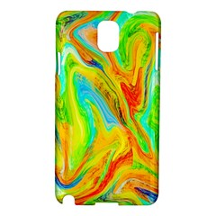 Happy Multicolor Painting Samsung Galaxy Note 3 N9005 Hardshell Case by designworld65