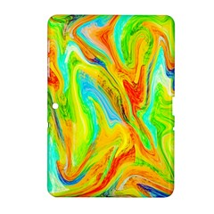 Happy Multicolor Painting Samsung Galaxy Tab 2 (10 1 ) P5100 Hardshell Case  by designworld65
