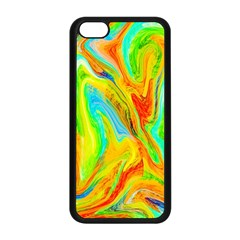 Happy Multicolor Painting Apple Iphone 5c Seamless Case (black) by designworld65