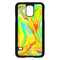 Happy Multicolor Painting Samsung Galaxy S5 Case (black) by designworld65