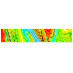 Happy Multicolor Painting Flano Scarf (large) by designworld65