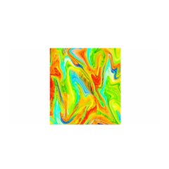 Happy Multicolor Painting Satin Wrap by designworld65