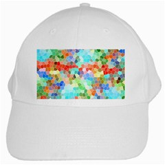 Colorful Mosaic  White Cap by designworld65