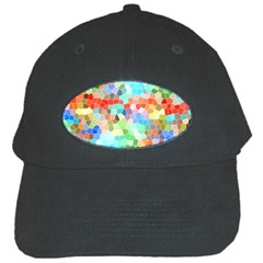 Colorful Mosaic  Black Cap by designworld65