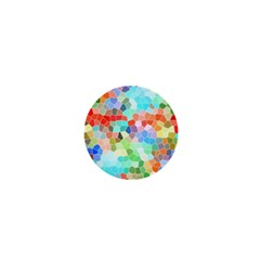 Colorful Mosaic  1  Mini Magnets by designworld65