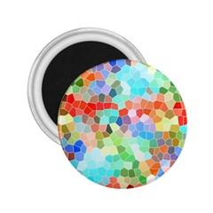 Colorful Mosaic  2 25  Magnets by designworld65