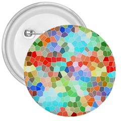 Colorful Mosaic  3  Buttons by designworld65