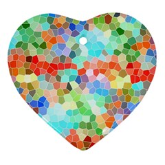 Colorful Mosaic  Ornament (Heart)