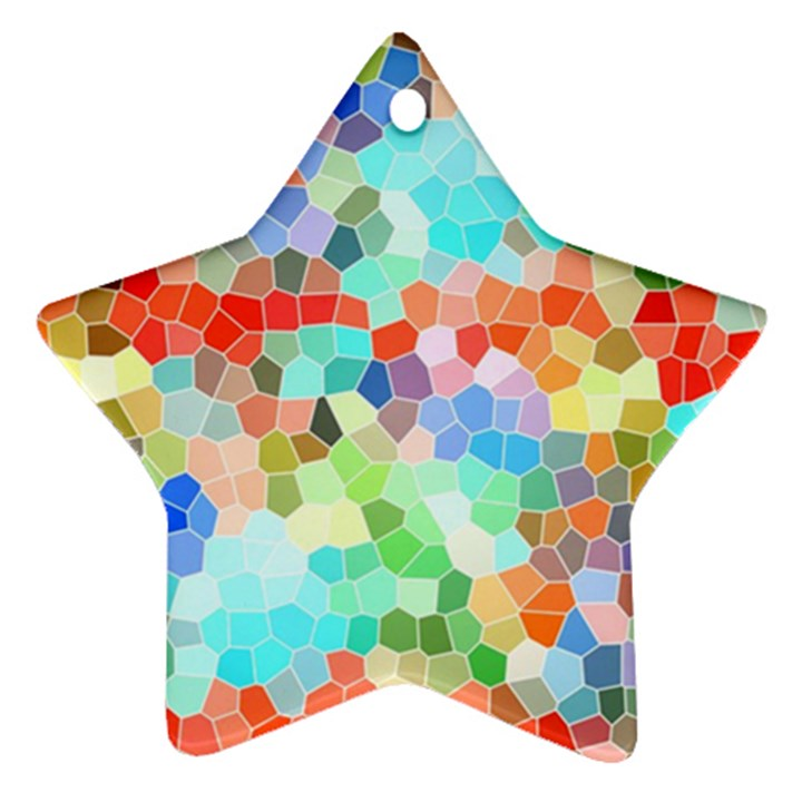 Colorful Mosaic  Ornament (Star)