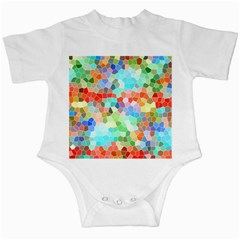 Colorful Mosaic  Infant Creepers by designworld65