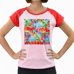 Colorful Mosaic  Women s Cap Sleeve T Shirt by designworld65