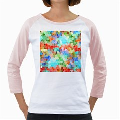 Colorful Mosaic  Girly Raglans by designworld65