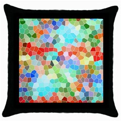 Colorful Mosaic  Throw Pillow Case (Black)