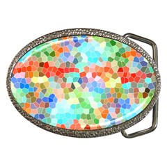 Colorful Mosaic  Belt Buckles by designworld65