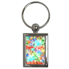 Colorful Mosaic  Key Chains (Rectangle)