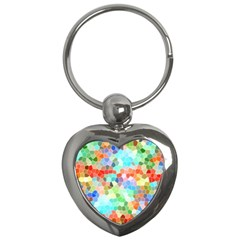 Colorful Mosaic  Key Chains (Heart)