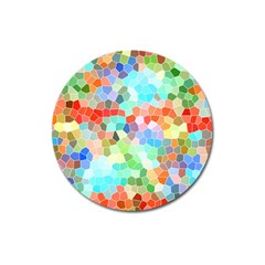 Colorful Mosaic  Magnet 3  (round) by designworld65