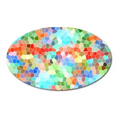Colorful Mosaic  Oval Magnet by designworld65
