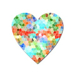 Colorful Mosaic  Heart Magnet
