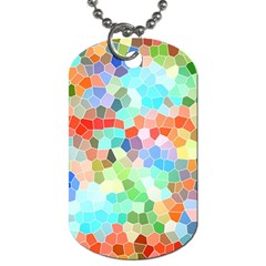 Colorful Mosaic  Dog Tag (one Side) by designworld65