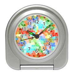 Colorful Mosaic  Travel Alarm Clocks by designworld65