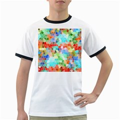 Colorful Mosaic  Ringer T Shirts by designworld65