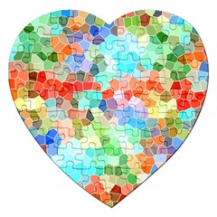 Colorful Mosaic  Jigsaw Puzzle (Heart)