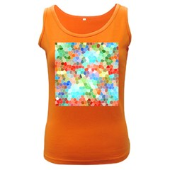 Colorful Mosaic  Women s Dark Tank Top by designworld65