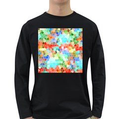 Colorful Mosaic  Long Sleeve Dark T Shirts by designworld65