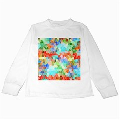 Colorful Mosaic  Kids Long Sleeve T Shirts by designworld65